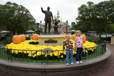 Two girls and Walt